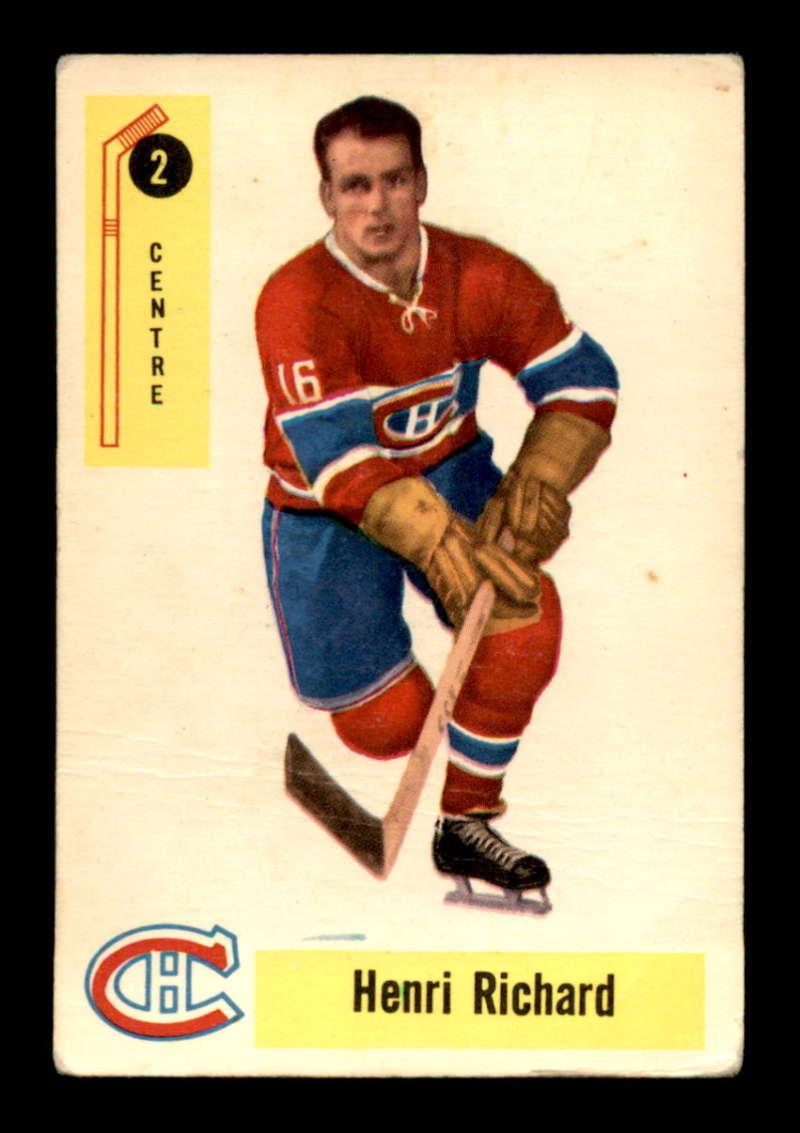 1958-Parkhurst-2-Henri-Richard-Montreal-Canadiens-Select-A-Grade-Free-Shipping